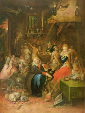 An Incantation Scene 1606 | Frans II the Younger Francken | oil painting