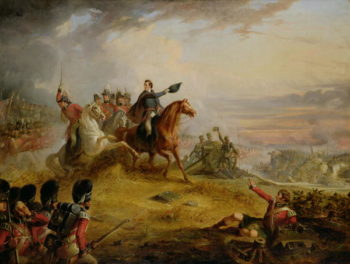 An Incident at the Battle of Waterloo in 1815   Thomas Jones Barker   oil painting
