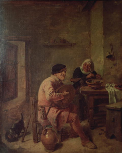 An Interior with Figures | Adriaen Brouwer | oil painting