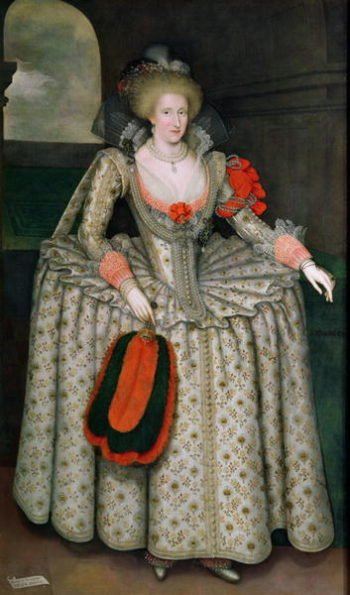 Anne of Denmark 1605 10 | Marcus Gheeraerts | oil painting