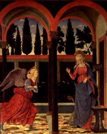 Annunciation 1457   Alesso Baldovinetti   oil painting