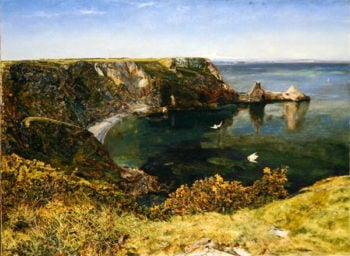 Anstey's Cove Devon 1854 | John William Inchbold | oil painting