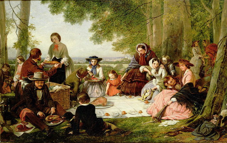 A picnic | Henry Nelson O'Neil | oil painting