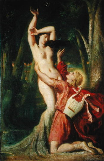 Apollo and Daphne 1845   Theodore Chasseriau   oil painting