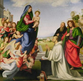 Apparition of the Virgin to St Bernard 1504 07 | Fra Bartolommeo | oil painting