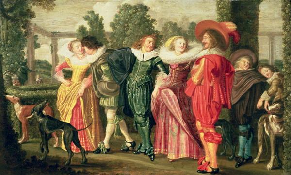 A Promenade in the Garden 1623 | Dirck Hals | oil painting