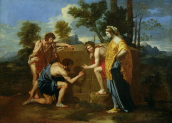 Arcadian Shepherds | Nicolas Poussin | oil painting