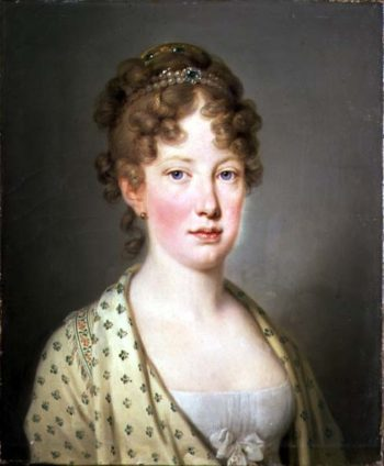 Archduchess Leopoldina of Austria 1st wife of Emperor Dom Pedro IV of Portugal | Josef Kreutzinge | oil painting