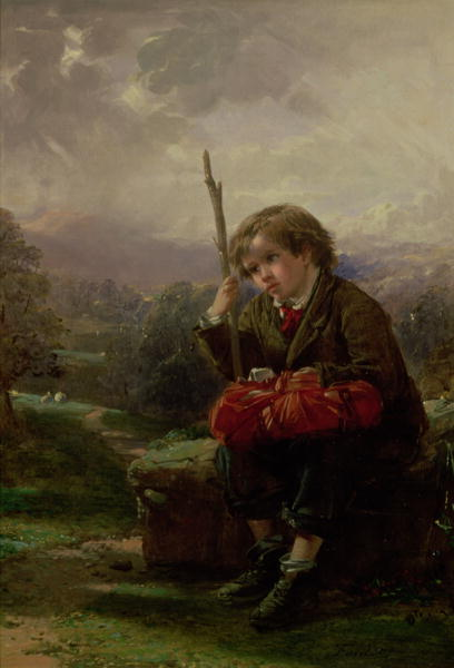 A Rest by the Way | Thomas Faed | oil painting