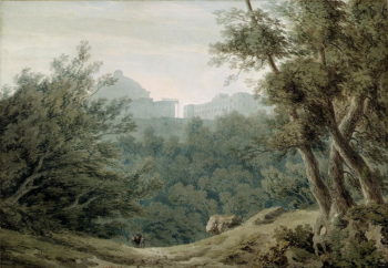 Arriccia near Albano | John Robert Cozens | oil painting