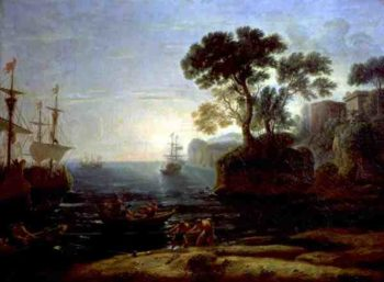 Arrival of Aeneas in Italy the Dawn of the Roman Empire | Claude Lorrain | oil painting