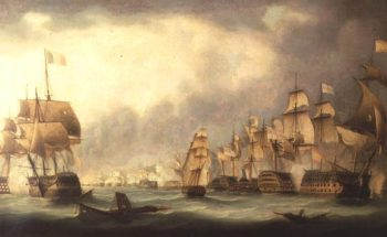 A Sea Battle | Thomas Luny | oil painting