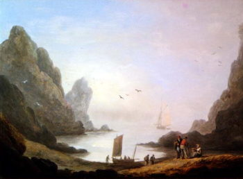 A Secluded Cove | Thomas Luny | oil painting