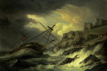 A Shipwreck said to be `The Dutton' | Thomas Luny | oil painting