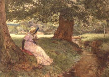 A Side Glance 1892 | Edward Frederick Brewtnall | oil painting
