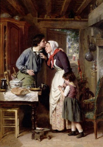A Son's Devotion 1868 | Pierre Jean Edmond Castan | oil painting