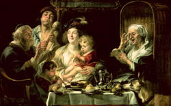 As the Old Sing so the Young Pipe 1638 | Jacob Jordaens | oil painting