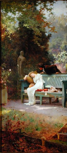 A Stolen Kiss | Marcus Stone | oil painting