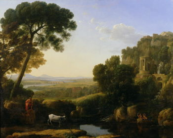 A Sunset or Landscape with Argus Guarding Io | Claude Lorrain | oil painting