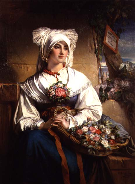 A Trieste Flowergirl | Jean Francois Portaels | oil painting