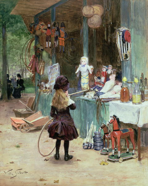 At the Champs Elysees Gardens 1897 | Victor Gabriel Gilbert | oil painting