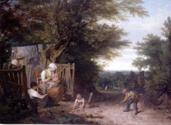 At the Cottage Gate | William Collins | oil painting