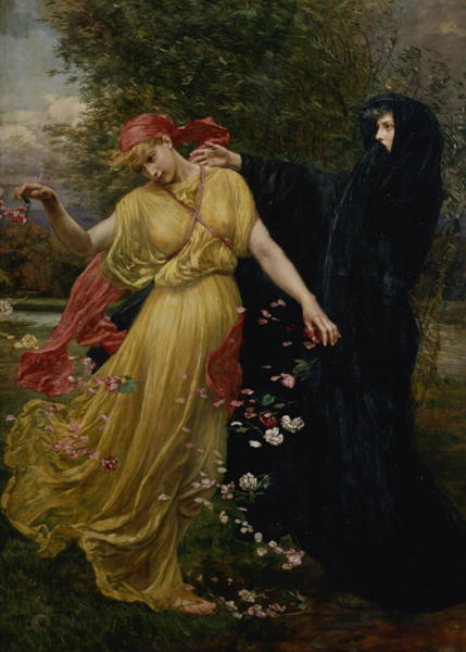 At The First Touch of Winter Summer Fades Away | Valentine Cameron Prinsep | oil painting