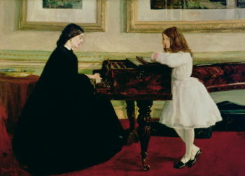 At the Piano 1858 59 | James Abbott McNeill Whistler | oil painting