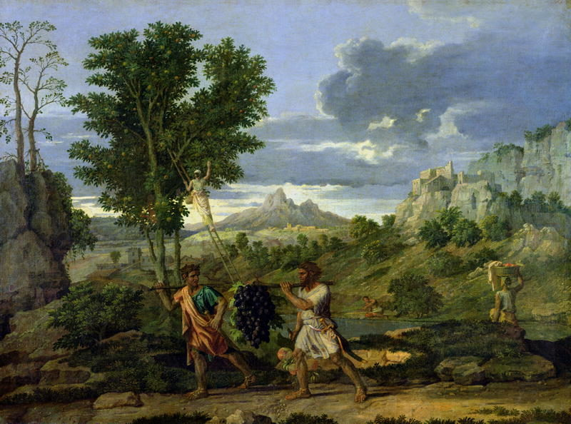 Autumn or the Bunch of Grapes Taken from the Promised Land 1660 64 | Nicolas Poussi | oil painting