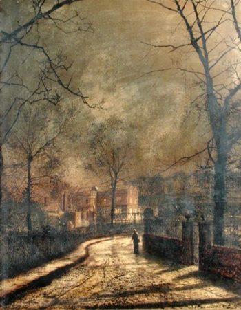 Autumn Scene Leeds 1874 | John Atkinson Grimshaw | oil painting