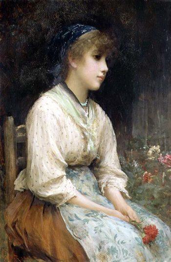 A Venetian Flower Girl | Sir Samuel Luke Fildes | oil painting