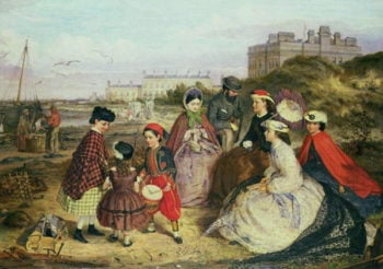 A Victorian Family at the Seaside | Charles Wynne Nicholls | oil painting
