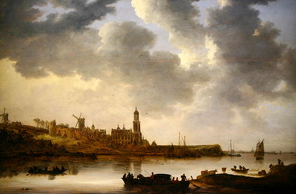 A View across the Rhine at Rhenen 1648 | Jan Josephsz van Goyen | oil painting