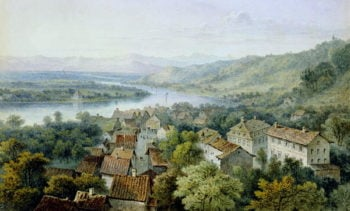 A View of Karlsruhe | Thomas Sidney Cooper | oil painting
