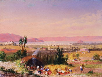 A View of Mexico City with an Encampment 1878 | Conrad Wise Chapman | oil painting