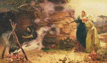 A Visit to the Witch 1882 | Edward Frederick Brewtnall | oil painting