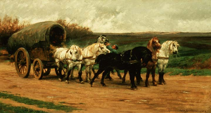 A Waggon and Team of Horses 1852 | Rosa Bonheur | oil painting