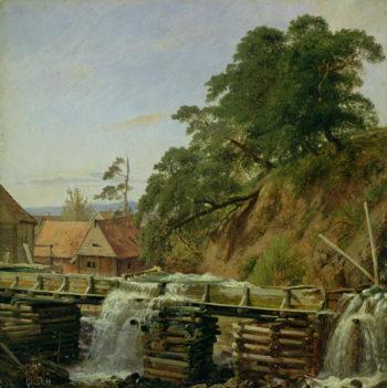 A Watermill in Christiania 1834 | Louis Gurlitt | oil painting