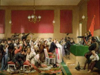 A Wedding under the Commune of Paris of 1871 | Paul Felix Guerie | oil painting