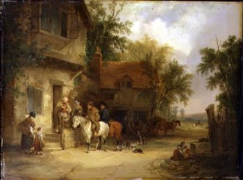 A Woodside Inn 1841 | William Snr Shayer | oil painting