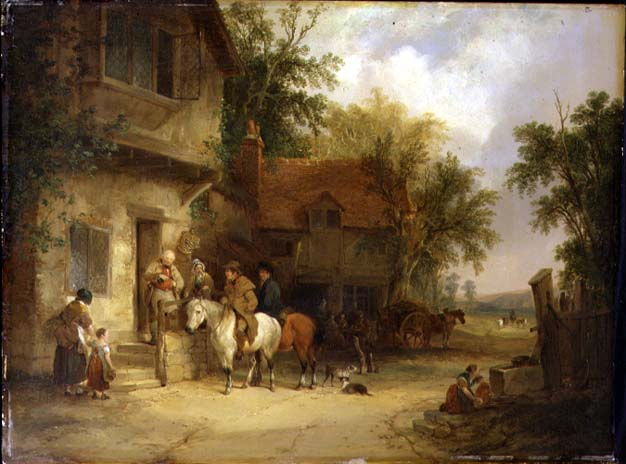 A Woodside Inn 1841 | William Snr Shayer | oil painting