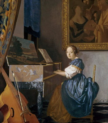 A Young Lady Seated at a Virginal 1670 | Jan Vermeer | oil painting