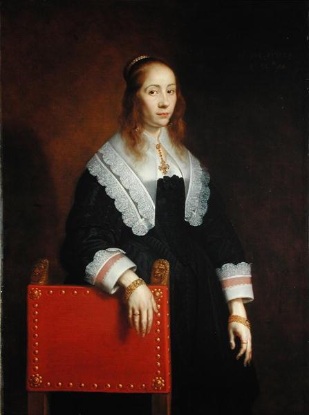 A Young Woman 1643   Bartolomeus van der Helst   oil painting