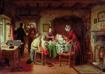 Baby's Birthday 1867 | Frederick Daniel Hardy | oil painting