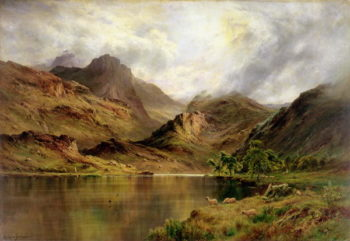 Banks of Arrochar | Alfred de Breanski | oil painting