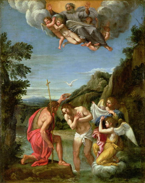 Baptism of Christ | Francesco Alban | oil painting
