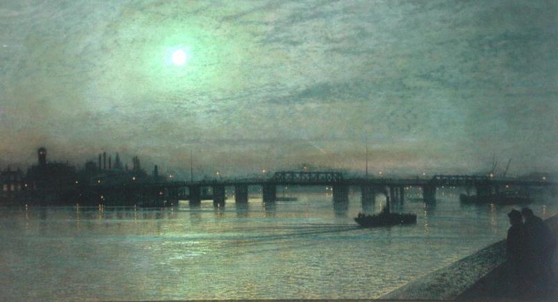 Battersea Bridge 1885   John Atkinson Grimshaw   oil painting