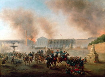 Battle in the Place de la Concorde 1871 | Boulanger | oil painting