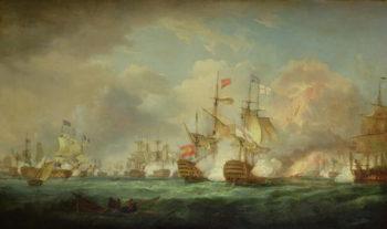 Battle of Trafalgar 21st Oct 1805 | Thomas Whitcombe | oil painting