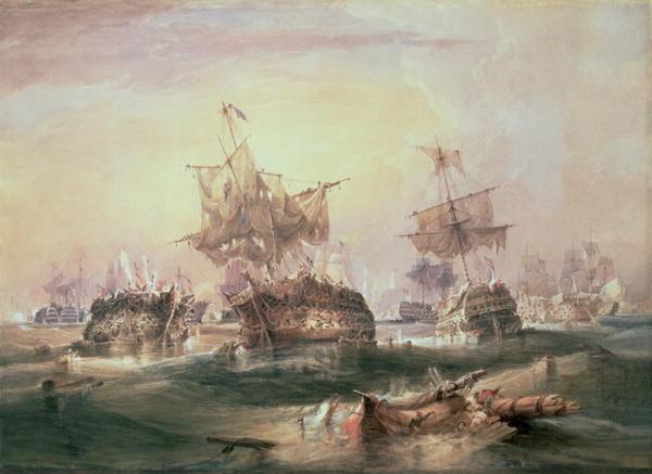 Battle of Trafalgar 21st October 1805 | William John Huggins | oil painting